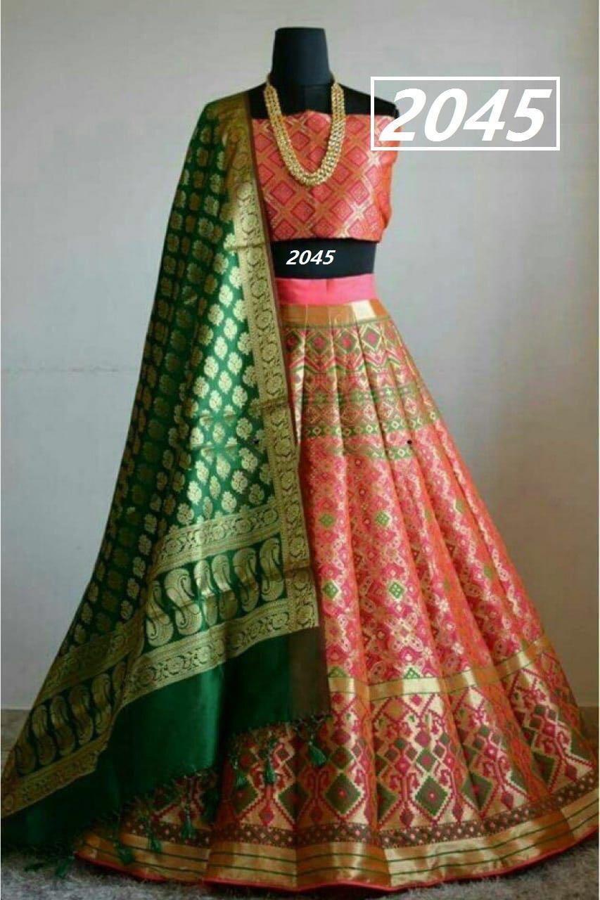 Velvet Designer Lehenga Choli