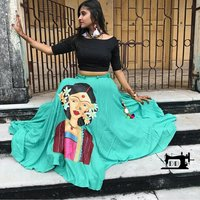 Printed designer lahenga choli
