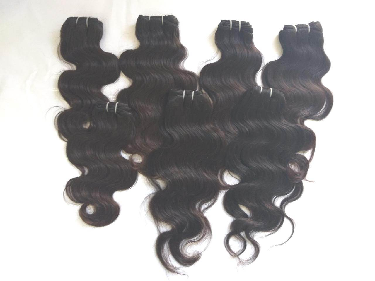 100% virgin human hair top quality Natural Deep Wavy Human Hair