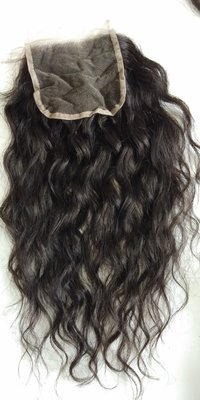 100% Raw Wavy Single Donor Hair, Wavy Lace Closure