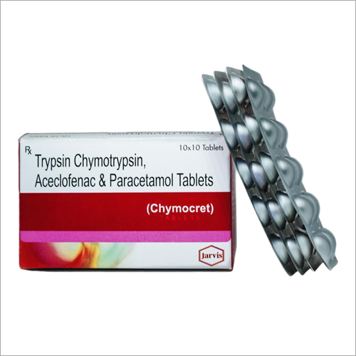 Trypsin Chymotrypsin Aceclofenac and Paracetamol Tablets
