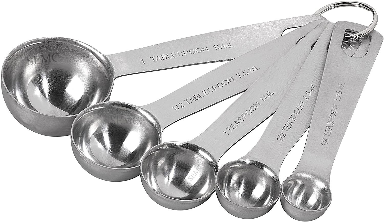 Measuring Spoons, Stainless Steel
