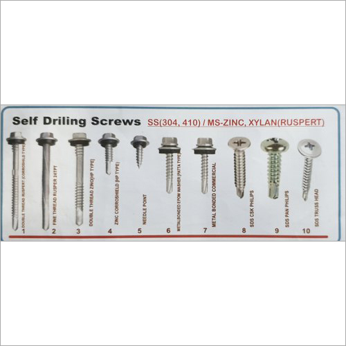 Imported SS Self Drilling Screw, For Roofing