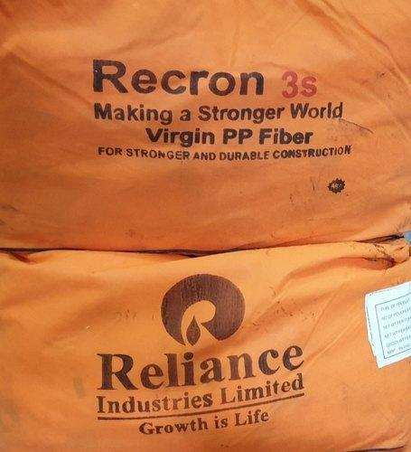 White Recron 3s Polypropylene Fiber