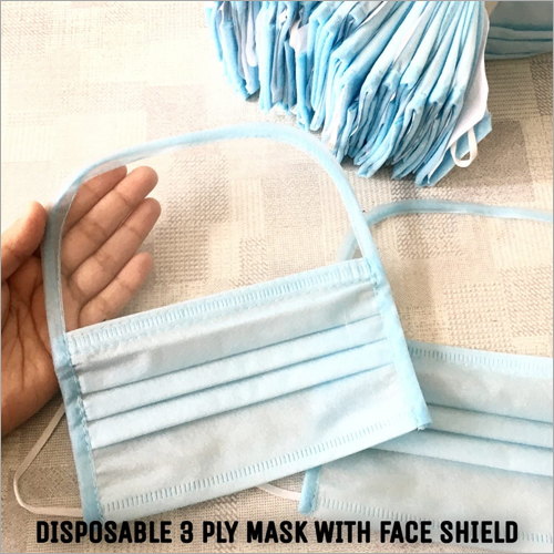 3 Ply Disposable Mask With Face Shield