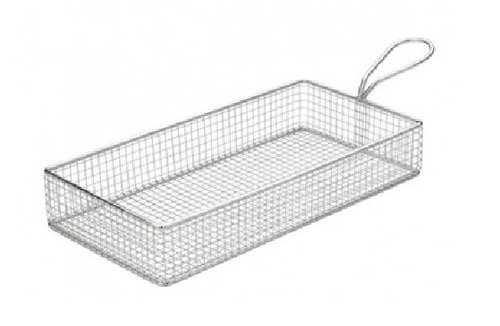 Mini Serving Wire Basket Rect SS 22 x 11 x 3.5 cm