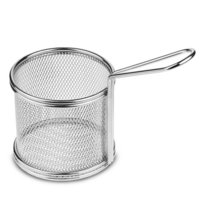 Mini Serving Wire Basket Round SS 9 x 9 cm