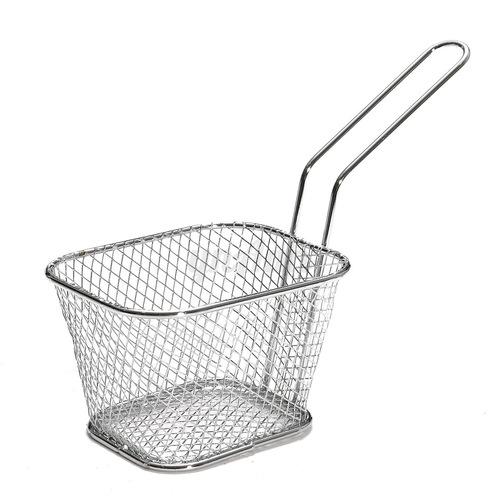 Mini Serving Basket Rect SS 12 x 8 x 7 cm