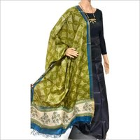 PURE TUSSAR SILK BLOCK PRINTED LONG 2.5 MTRS DUPATTA