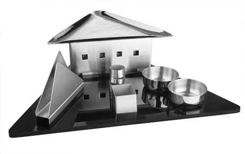 Snack Server Set with Acrylic Tray 18