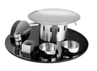 Snack Server Set with Acrylic Tray 16