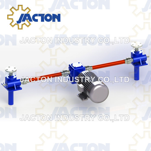 2 Post Lifting Points Worm Gear Screw Jack System