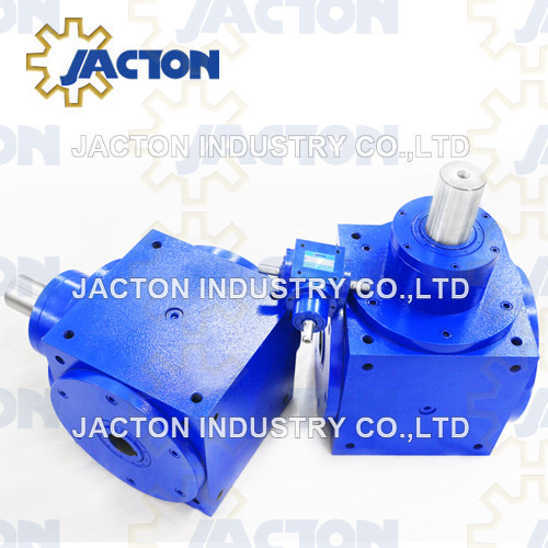 Jth90 Hollow Shaft 3 Way Bevel Gearbox 1: 1 Ratio Small Gearboxes Hollow Shafts