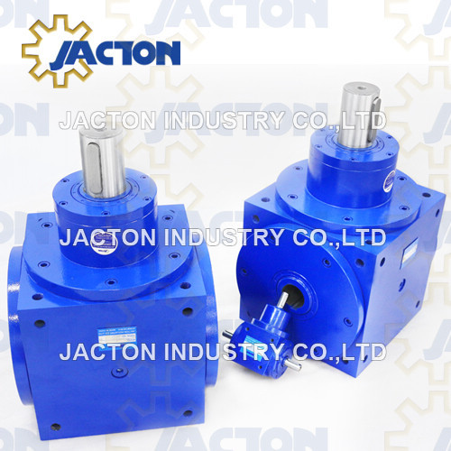 Jth210 90 Degree Hollow Shaft Four Way Gearboxes 1: 1 Ratio 90 Degree Hollow Shafts Gear Boxes