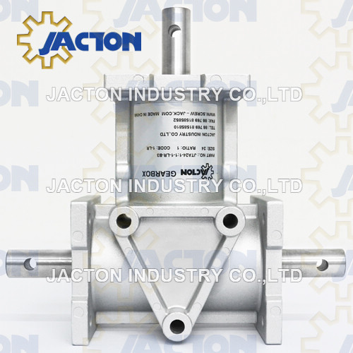 Aluminium Jta24 Reducers and Drives Bevel Gear Right Angle Gearboxes