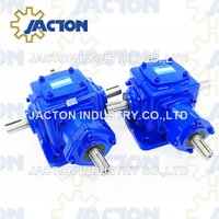 Heavy Duty Jt85 Right Angle Bevel Gearbox with 3 Keyed Shafts 1: 1 Ratio