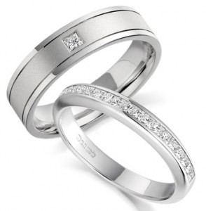 Silver Couples Ring