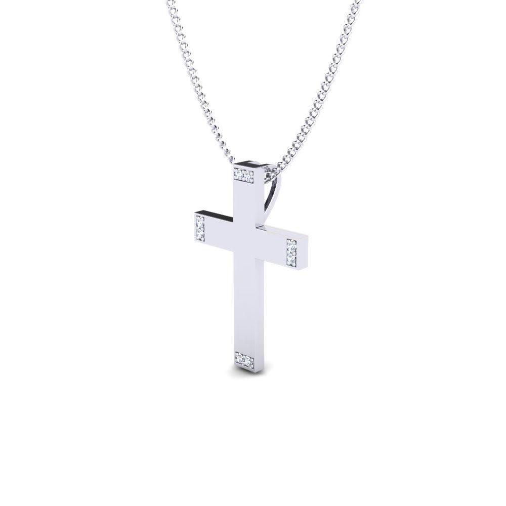 Holy  Jesus Silver Cross Pendant
