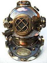 Boston Mass U.S Navy Mark V Solid Copper Divers Helmet Antique