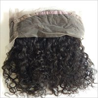 360 Natural Curly Frontal,transparent Lace