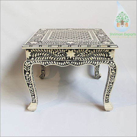 Bone Inlay Floral Design Table