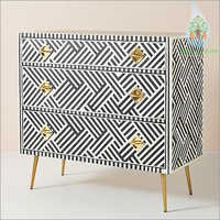Bone Geometric Drawer Cabinet