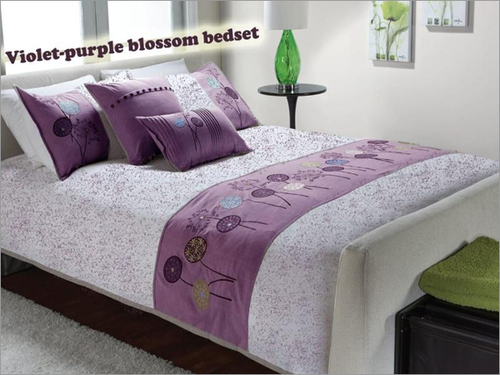 Violet Purple Blossom Bed Sheet