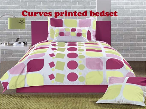 Curves Printed Bed Sheet