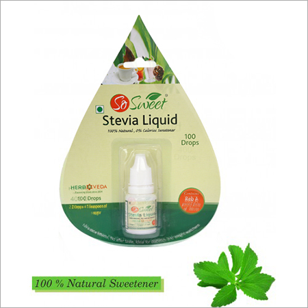 So Sweet Stevia Liquid-100 Drops