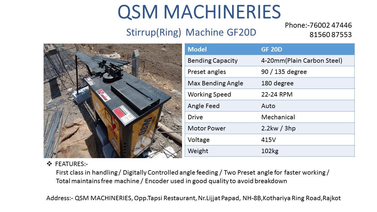 GF20D Stirrup Bending Machine