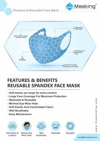 Face Mask S/M/L Size - Washable Reusable 3 Layered - Baby Blue & Baby Pink Color