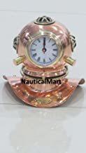 "NauticalMart 8"" Copper Decorative Divers Helmet Clock"