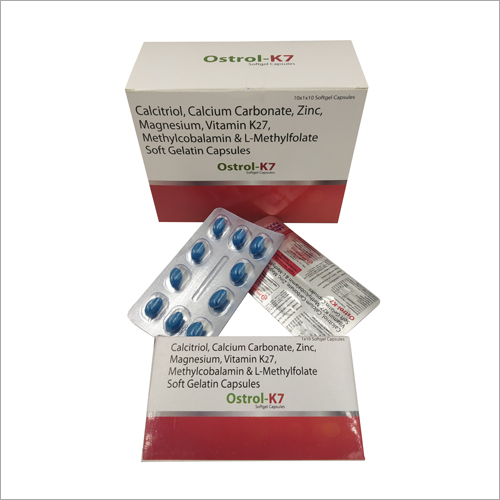Calcitriol Calcium Carbonate Zinc Magnesium, Vitamin K27 Soft Gelatine Capsules