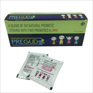 Six Natural Probiotic Strains With Two Prebiotic And Zinc Sachet