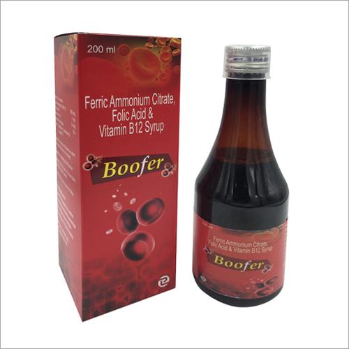 200 ML Ferric Ammoniumm Citrate Folic Acid And Vitamin B12 Syrup