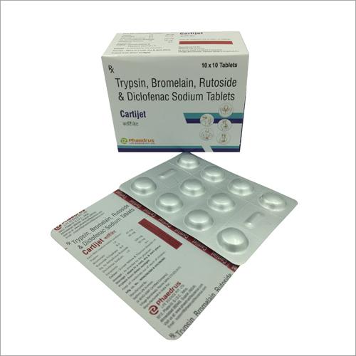 Trypsin Bromelain Rutoside And Diclofenac Sodium Tablets