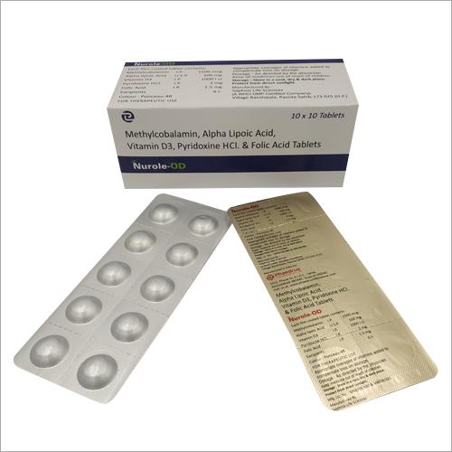 Methylcobalamin Alpha lipoic Acid Vitamin D3 Pyridoxine Hydrochloride And Folic Acid Tablets