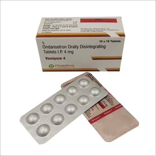 4 MG Ondansetron Orally Disintegrating Tablets IP