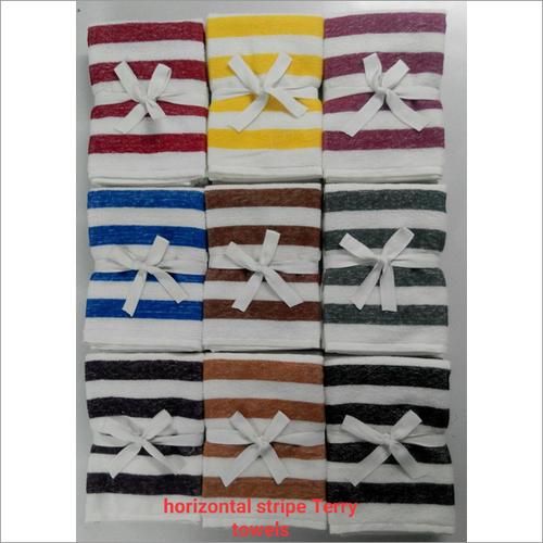 Horizontal Stripe Terry Towels