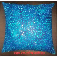 Aqua Blooming Cushions