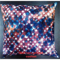 Blue Rains Printed Cushion