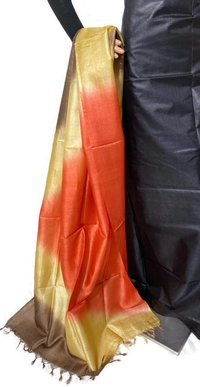 PURE TUSSAR SILK TIE AND DIE LONG DUPATTA 2.5 MTRS .