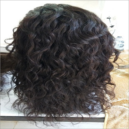 Unprocessed curly full lace wig