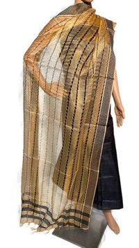 PURE TISSUE TUSSAR SILK FANCY LONG DUPATTA.