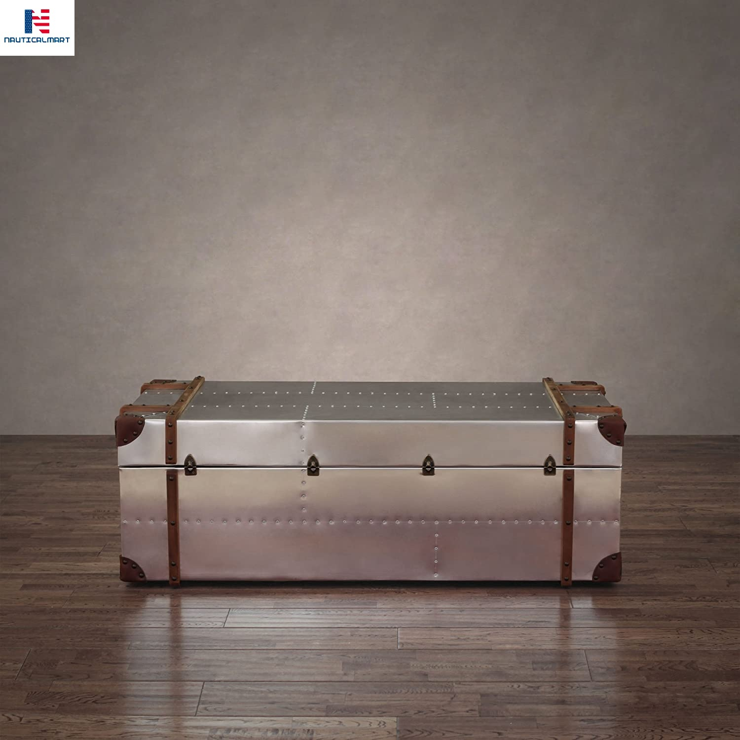 Commander Aluminum Storage Trunk Coffee Table