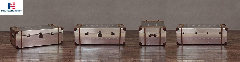 Commander Aluminum Storage Trunk Coffee Table
