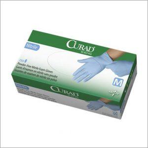 Medline Curad Powder Free Textured Nitrile Exam Gloves