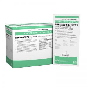 Medline Derm Assure Green Powder Free Surgical Gloves