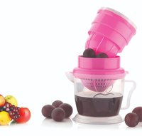 Nirlon 2 in 1 Nano Fruit Juicer ABS Plastic 2 in 1 Hand Press Manual Fruit Juicer (Multi Color)