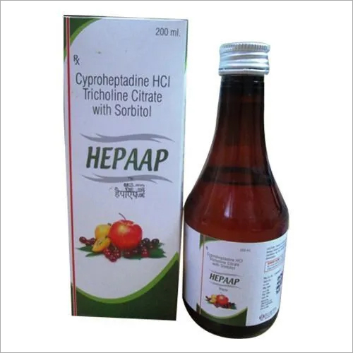 Cyproheptadine Tricholine Citrate & Sorbitol Syrup
